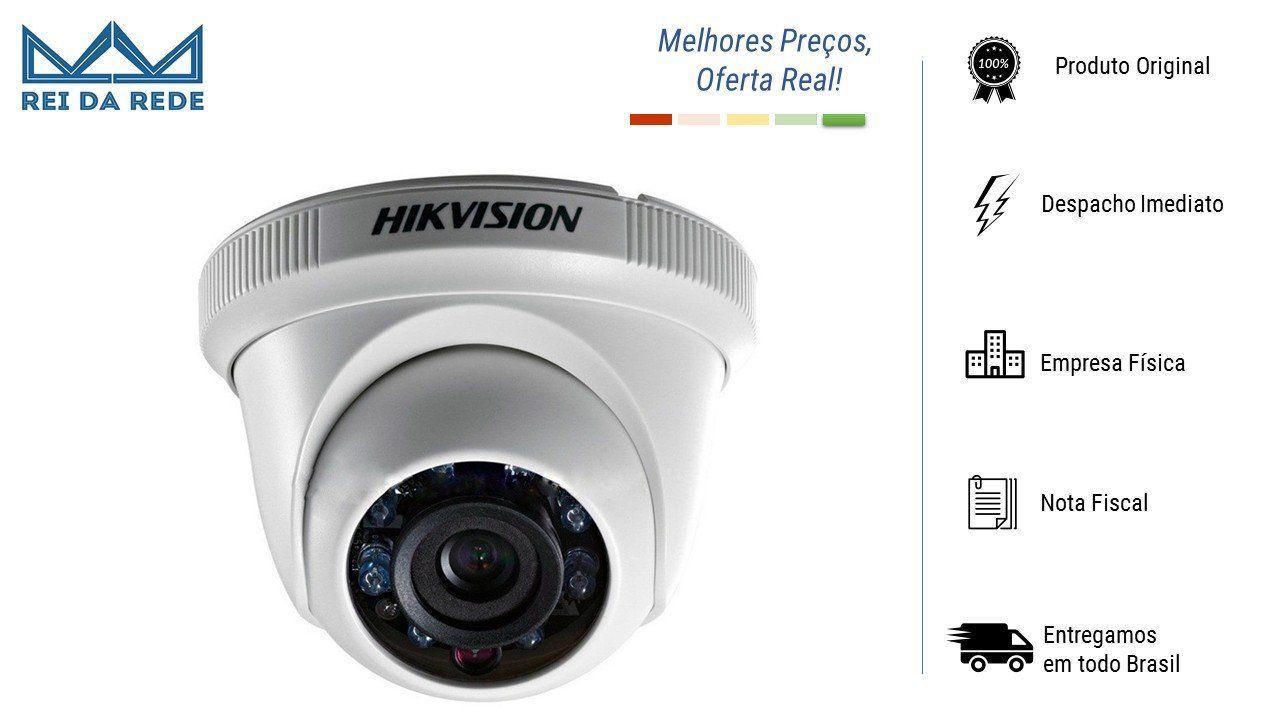 Câmera Dome 1.0 Megapixel HD 720p 20mts Lente 3.6mm Hikvision
