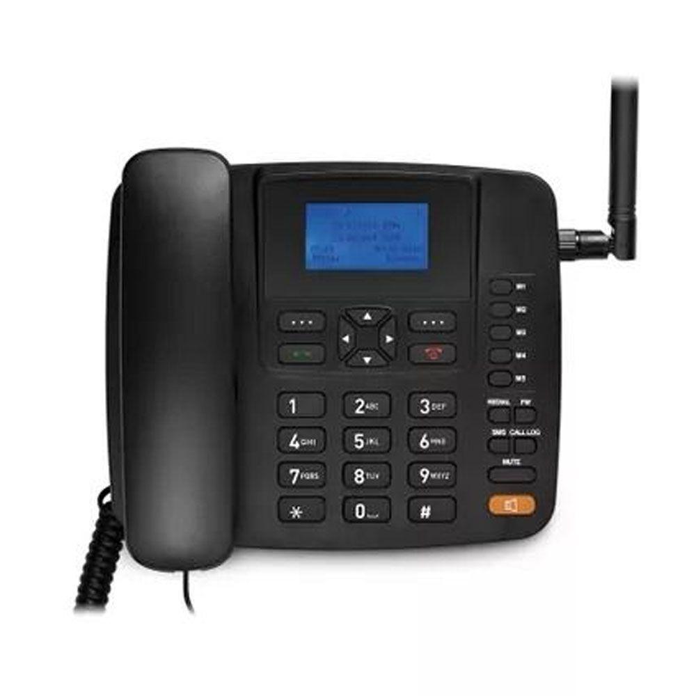 Celular Rural Fixo Quadriband 3G Preto Multilaser RE504