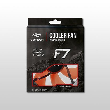 Cooler Fan Led 12 X 12 X 2,5 cm Storm F7-L100RD C3tech