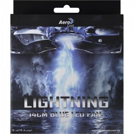 Cooler Fan 14 X 14 Blue Led Lightning Aerocool