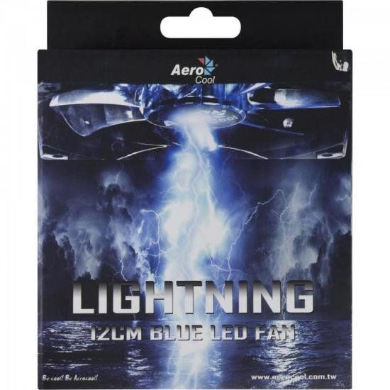 Cooler Fan 12 x 12 Blue Led Lightning Aerocool