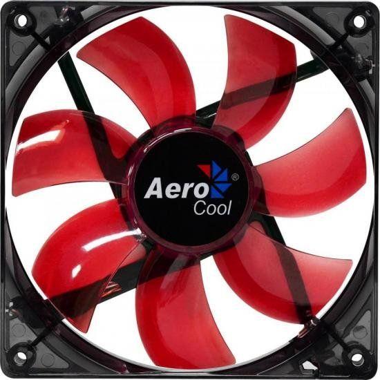 Cooler Fan 12 x 12 Red Led Lightning Aerocool