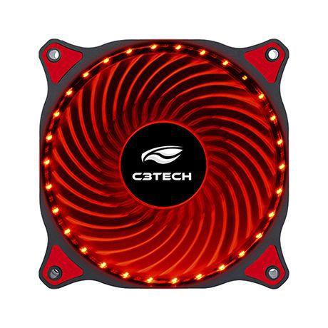 Cooler Fan Storm 12cm Led Vermelho F7-L130RD  C3tech