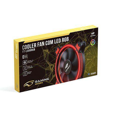 Kit  Cooler 2und Led RGB 12X12cm Controle Remoto F7-L500RGB C3tech