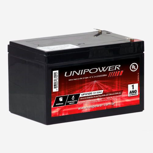 Bateria Selada UNIPOWER UP12120  Nobreak Equi. Médico 12V 12Ah