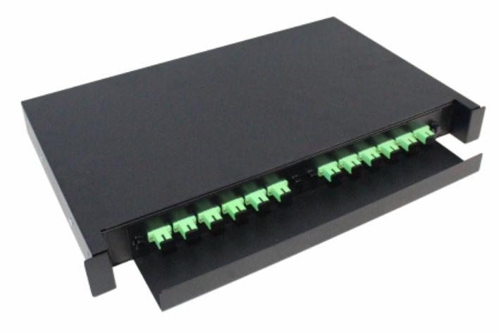 D.I.O 12FO Completo -  Conector SC/APC - Distrib. Interno Óptico 2F-FDIO-12-APC