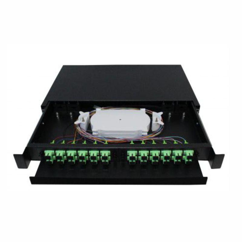 D.I.O 24FO Completo Conector SC/APC Distrib Interno Óptico 2F-FDIO-24-APC