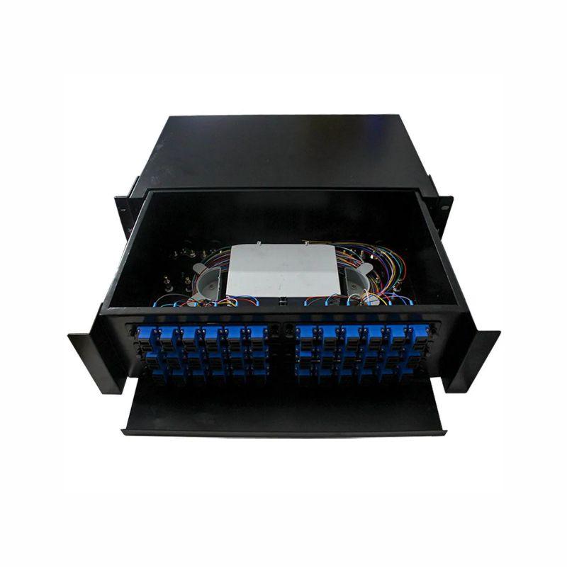 D.I.O 36FO Completo Conector SC/UPC Distrib Interno Óptico 2F-FDIO-36-UPC