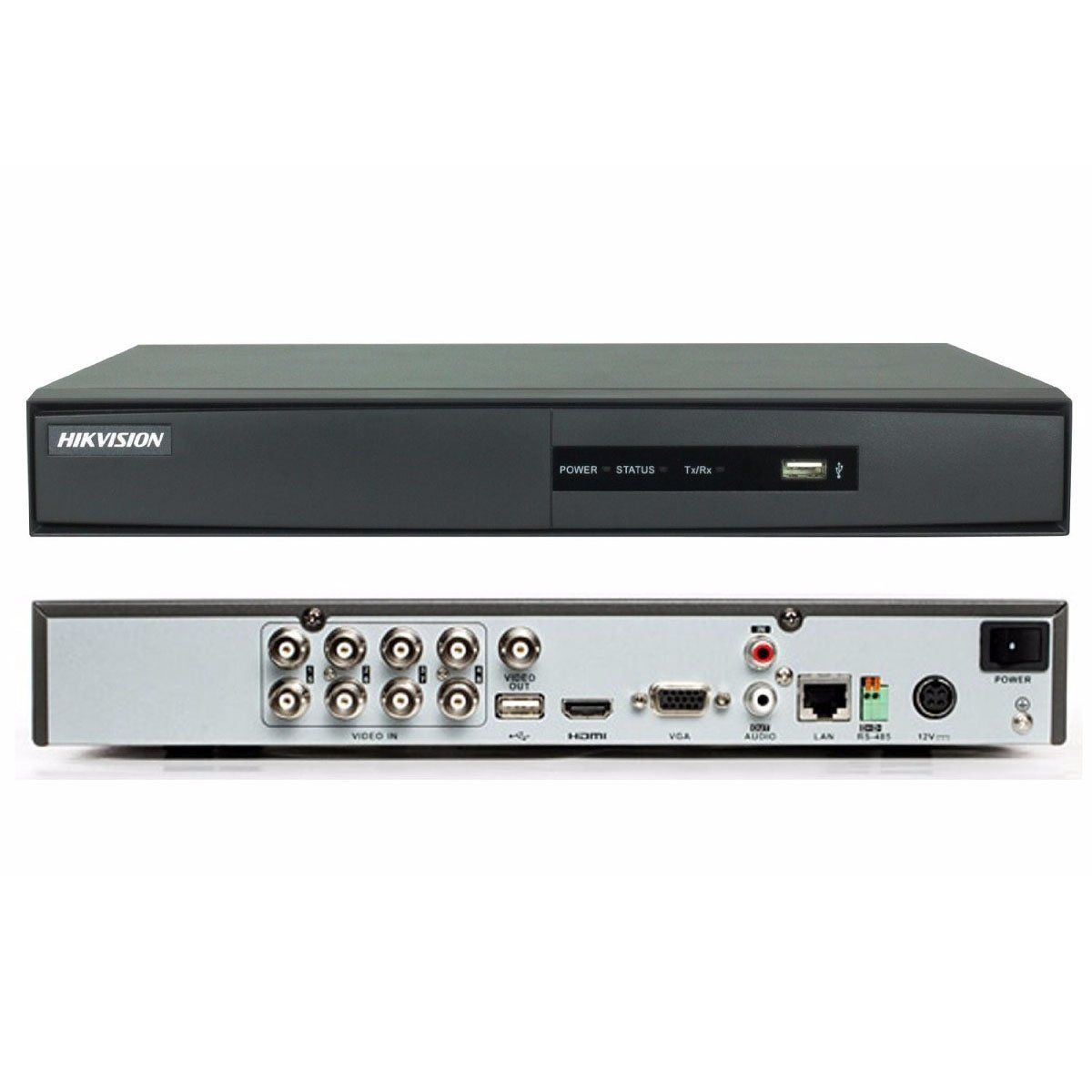 DVR 8 Canais Digital Turbo HD DS 7208HGHI-F1/N Hikvision
