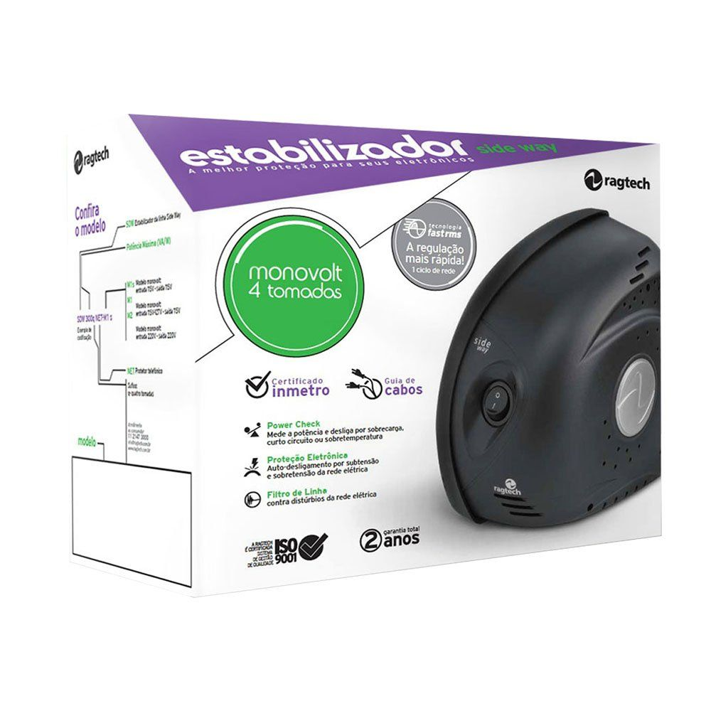 Estabilizador Side Way  SDW 1000VA  Ragtech