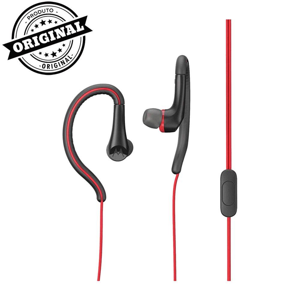 Fone de Ouvido com Microfone Motorola Earbuds Sport Vermelho