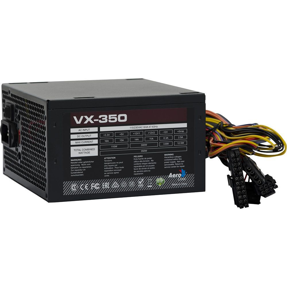 Fonte ATX 350W Real VX-350 EN57181 AEROCOOL