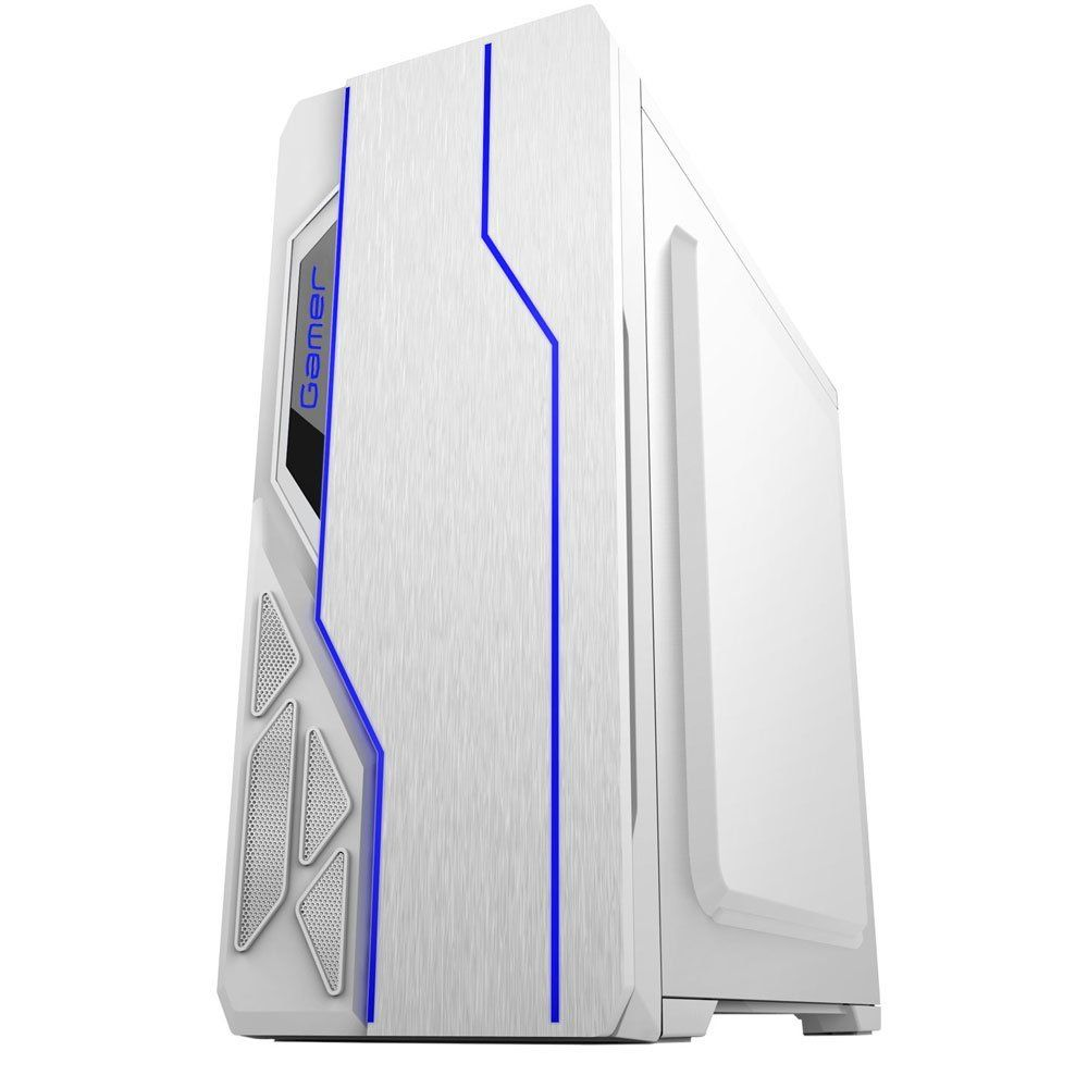 Gabinete Gamer USB 3.0 Led Branco BG-009 Bluecase