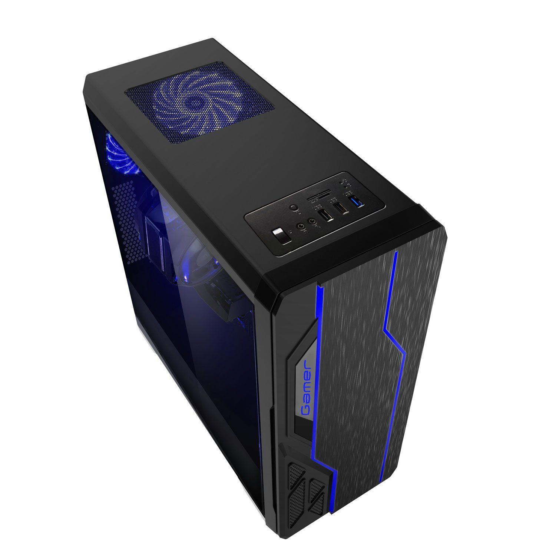 Gabinete Gamer Usb 3.0 Led Bluecase BG009 Preto