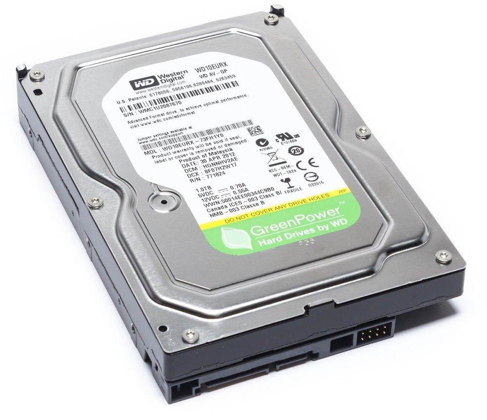 """HD Green 1TB SATA3 Western Digital 3.5"""" WD10EURX PULL"""