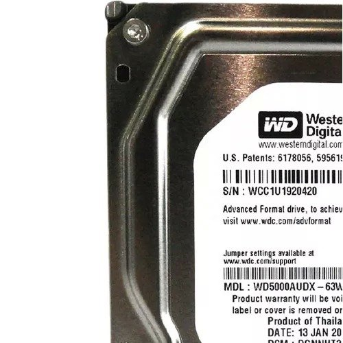 "HD 500GB Sata3 Western Digital 3,5"" WD5000AUDX WD 3.5 PULL"