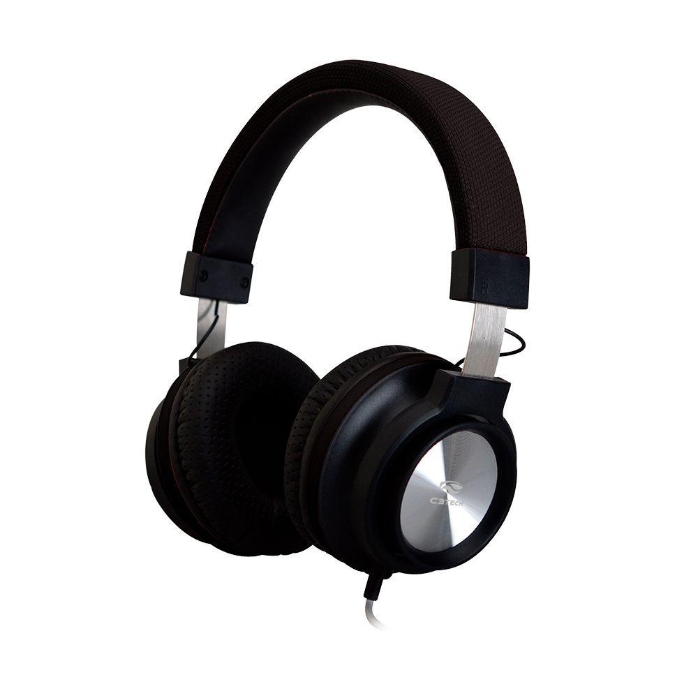 Headphone C/ Microfone PH-300BK Preto C3TECH