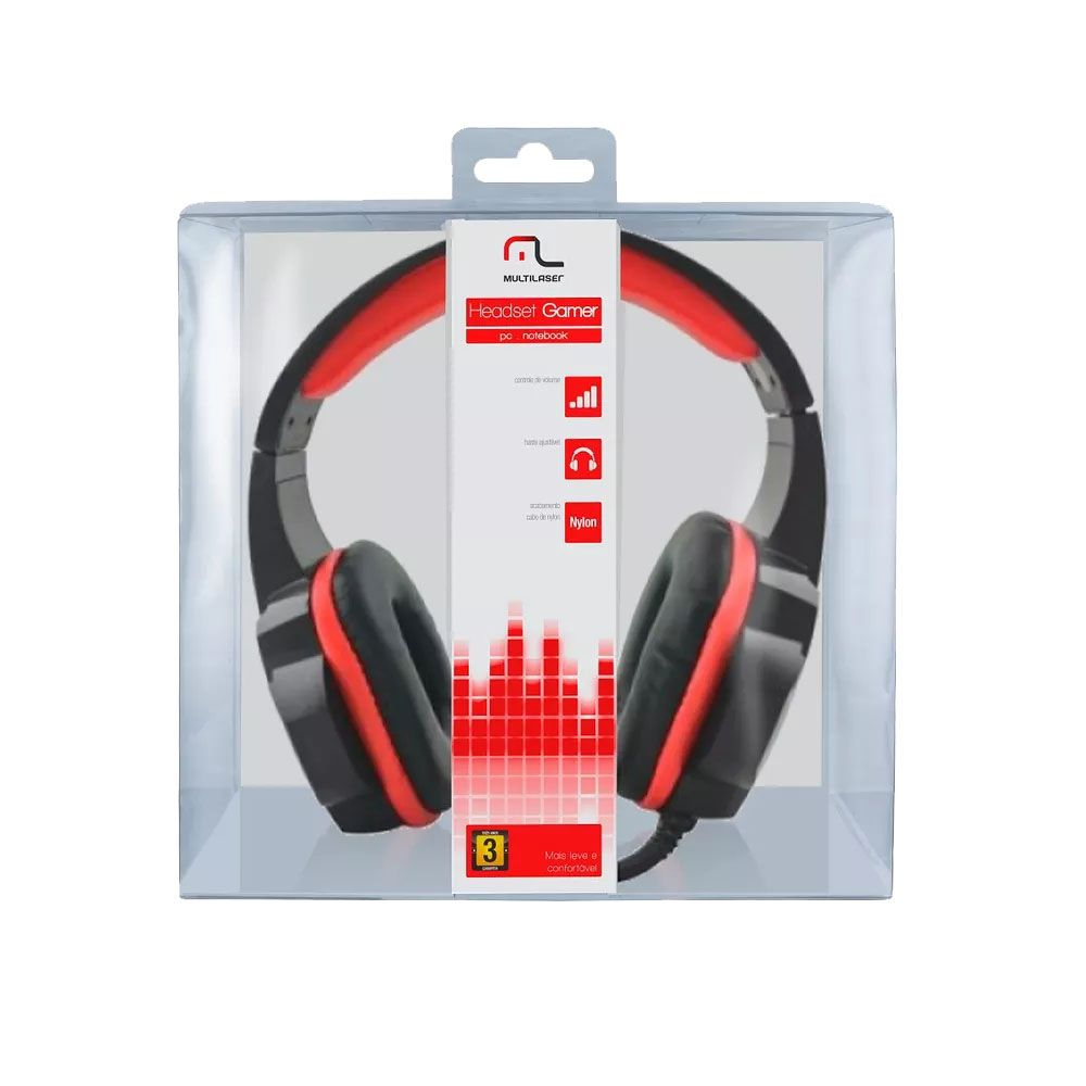 Headphone Fone Gamer P2 Cabo Nylon Multilaser PH120