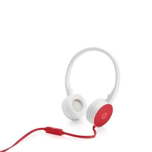 Headphone HP c/ Microfone Dobravel H2800 Cardinal Vermelho