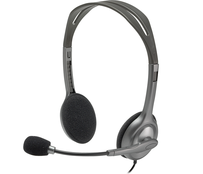 Headphone Fone Microfone Headset Logitech H110 P2 Preto