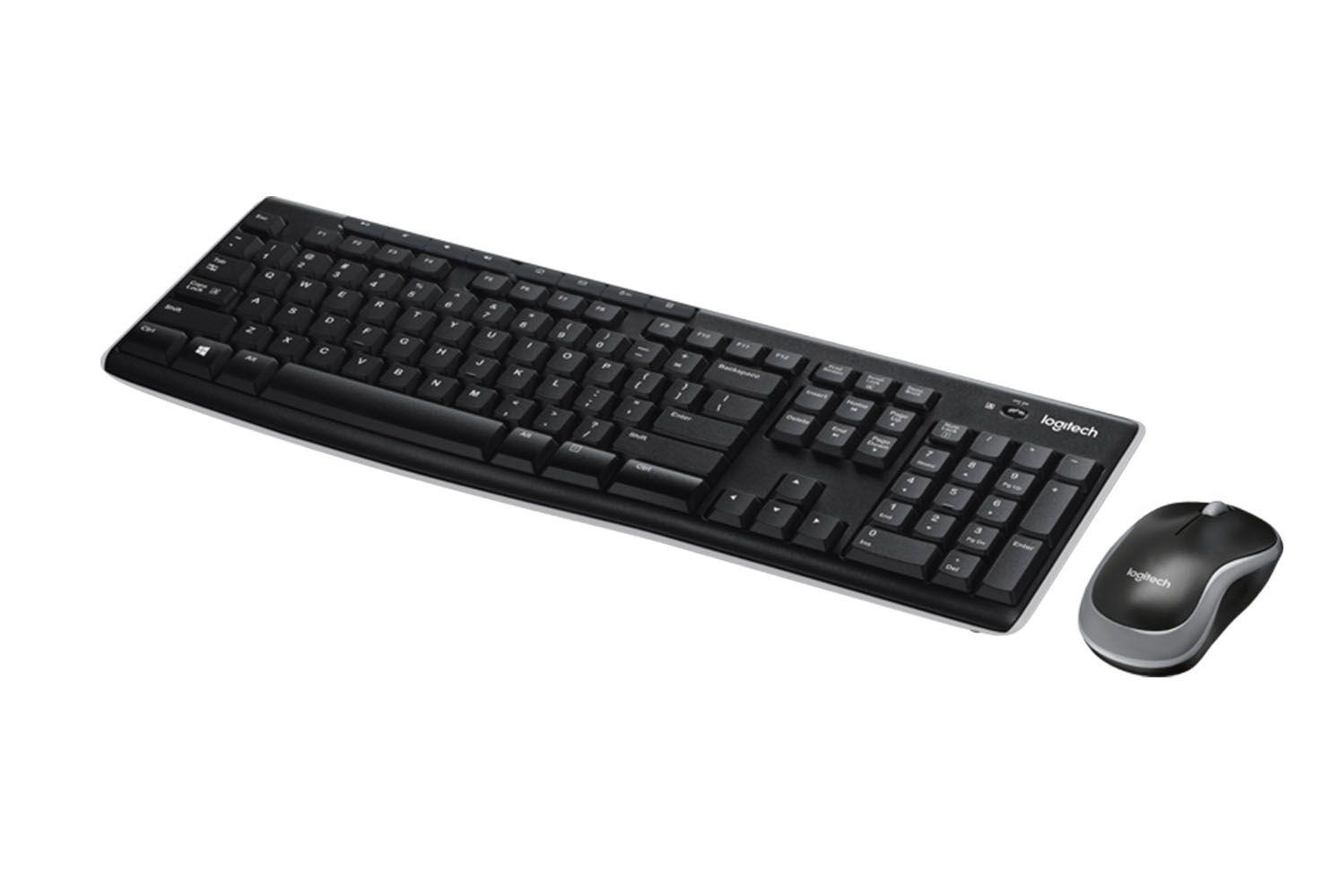 Kit Teclado e Mouse Óptico Sem Fio Mk270 Logitech