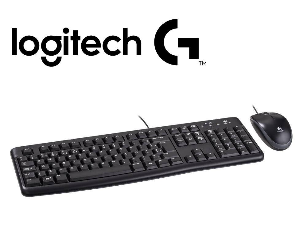 Kit Teclado e Mouse USB Preto Logitech MK120