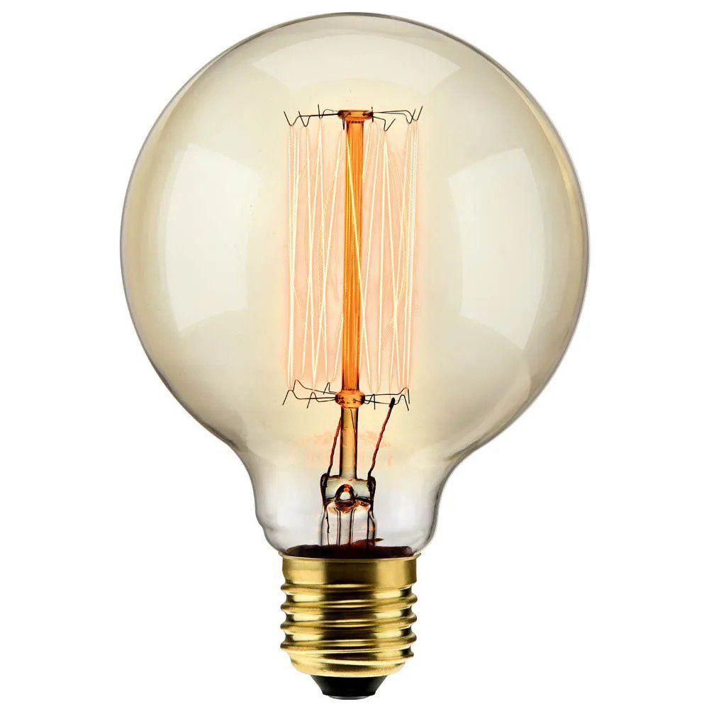 Lâmpada Filamento Carbono G95 40w 220v 2000K 48LCARG95002 ELGIN