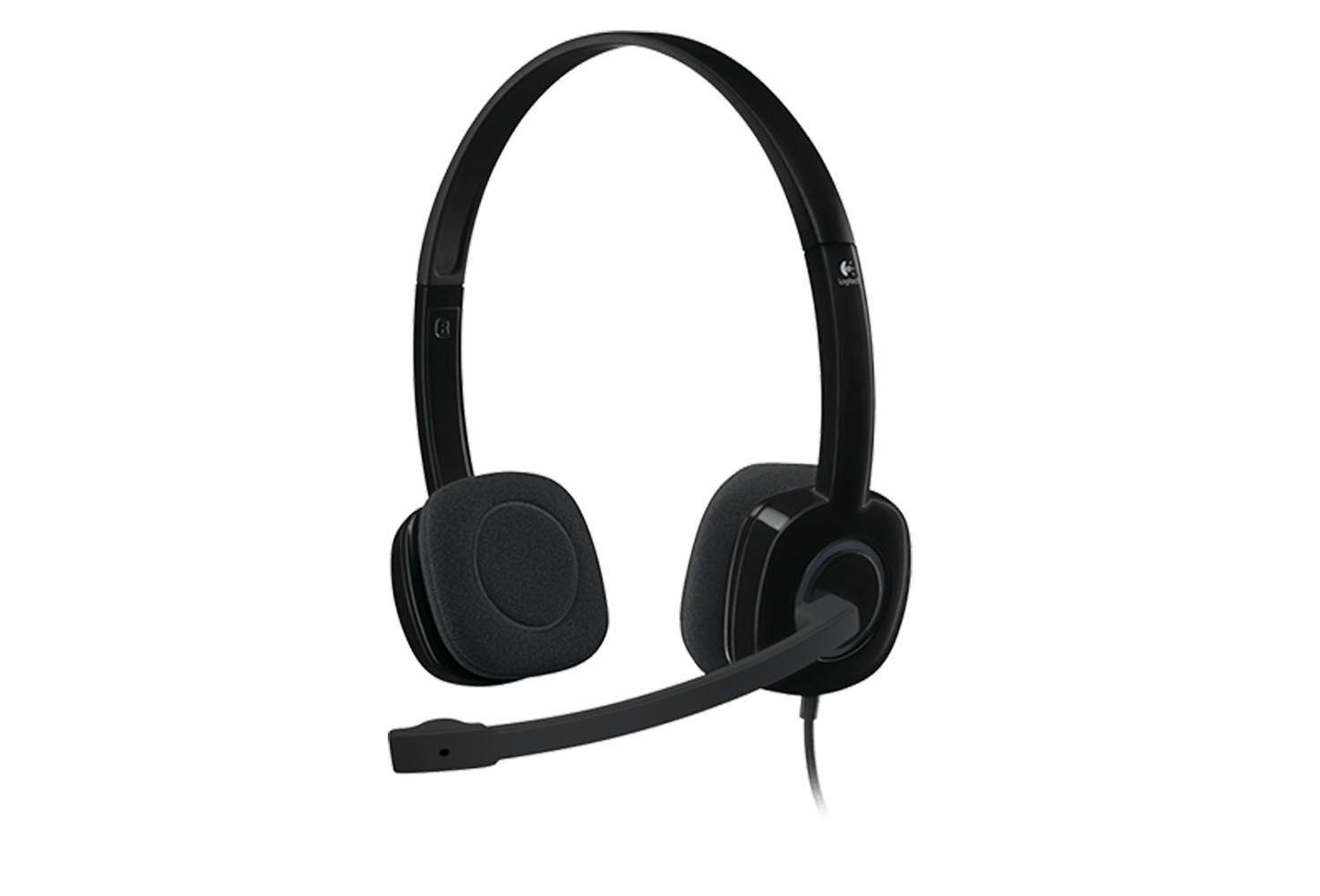 Fone Headset Stereo Logitech H151 Preto