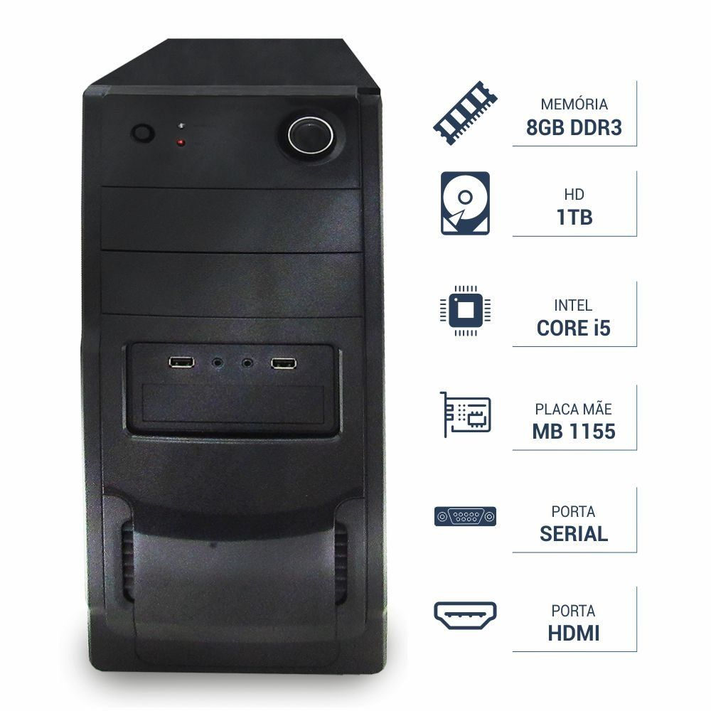 Computador CORP Intel Core I5 3.10Ghz 8Gb DDR3 1TB RR21