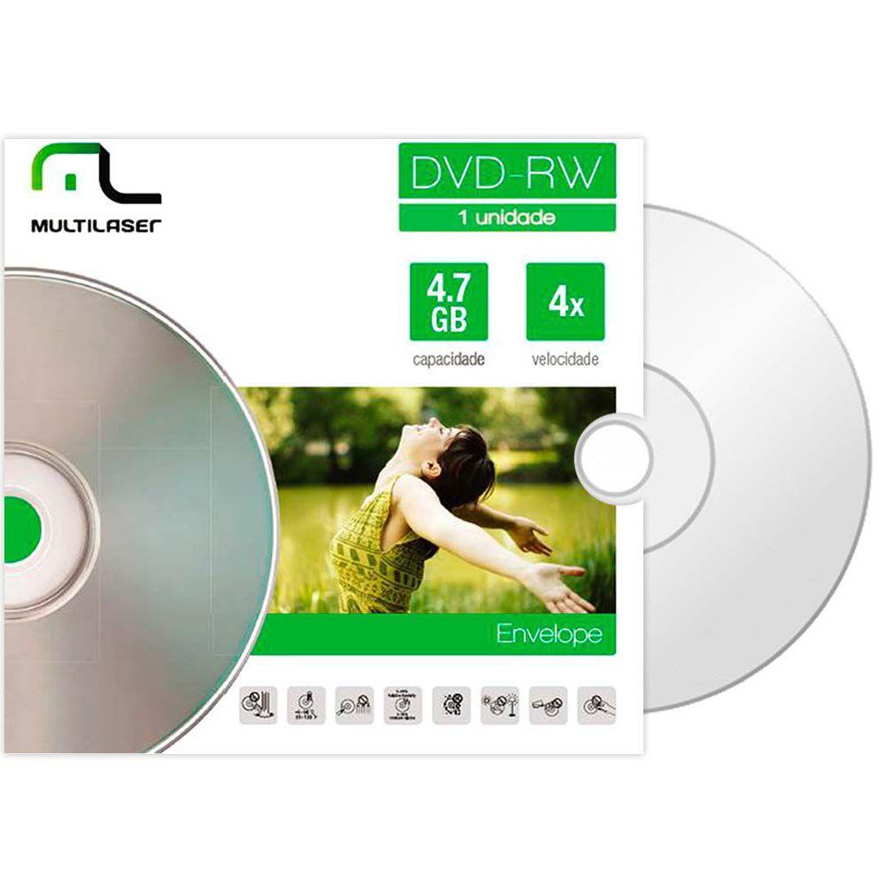 Mídia DVD-RW 4x Envelope Dv064 Multilaser