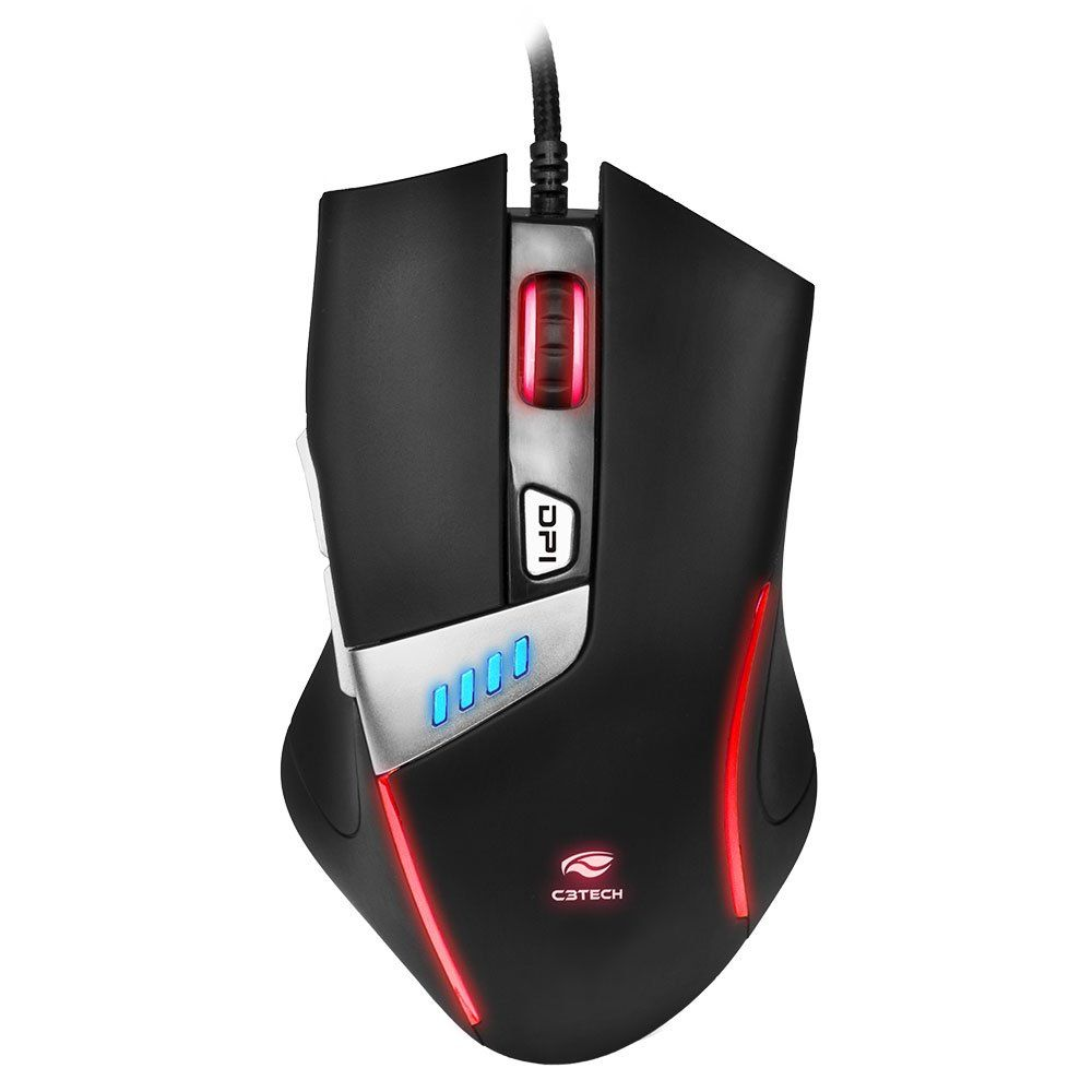 Mouse Óptico Gamer 4000dpi USB Griffin MG-500BK C3Tech