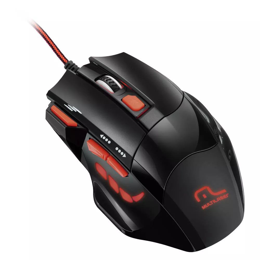 Mouse Óptico XGamer Multilaser Fire Button USB 2400DPI MO236