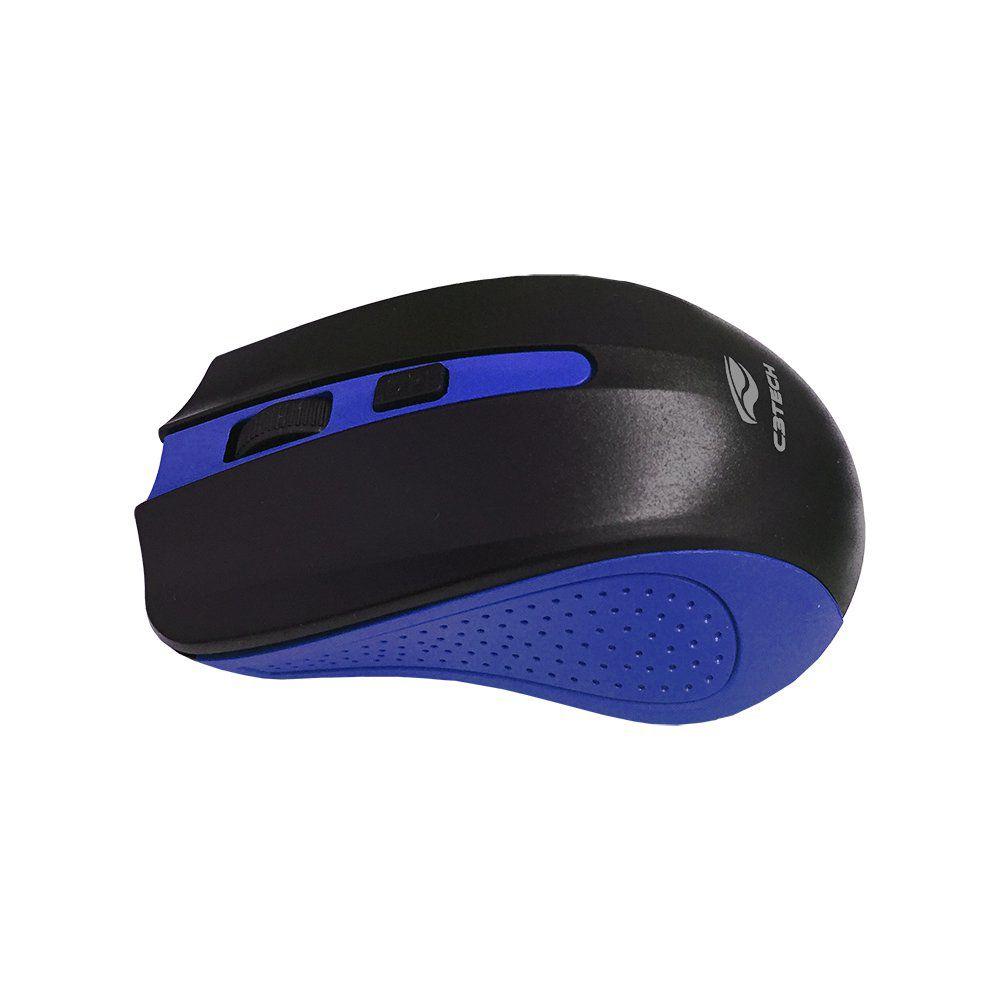 Mouse sem fio 1000DPI M-W20BL Azul C3tech