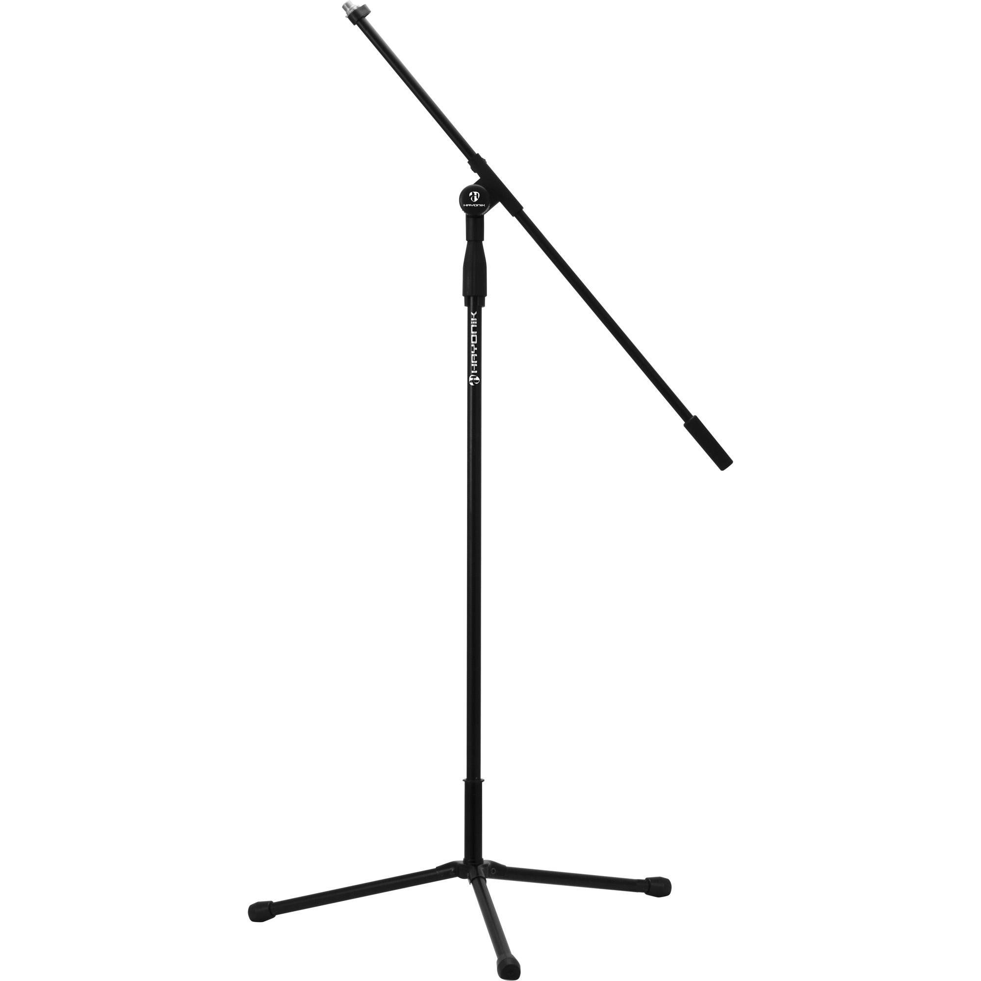 Suporte Pedestal para Microfone Tipo Girafa Preto HAYONIK PM-100