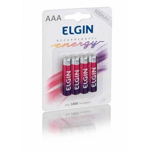Pilha Recarregável AAA 900MAH Com 4 Unidades ELGIN