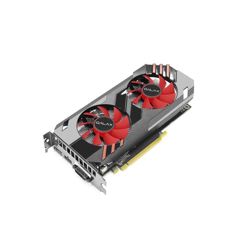 Placa de Vídeo Geforce Gtx 1060 OC 6GB DDR5 192 Bits DVI/HDMI/DP Vermelha GALAX