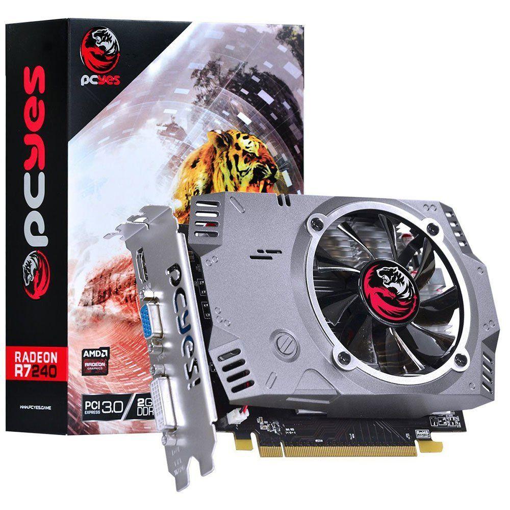 Placa de Vídeo R7 240 2Gb DDR5 128 Bits PCYES