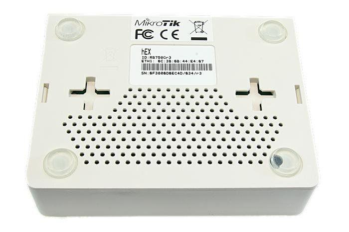 Roteador Mikrotik Hex Router Board com Case RB750GR3