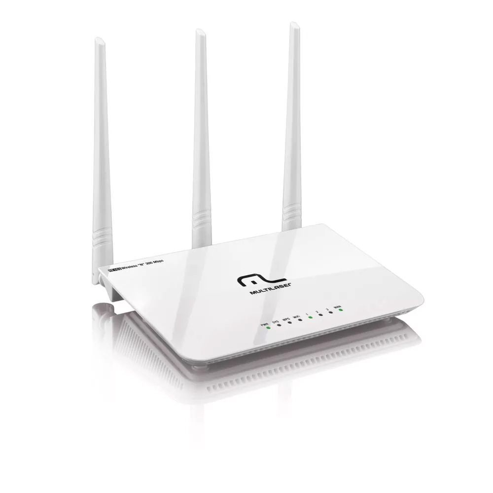 Roteador Wifi 3 Antenas 5dBi 300mbps  Multilaser RE163