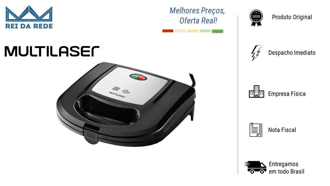 Sanduicheira e Grill Inox 220V CE032 Multilaser