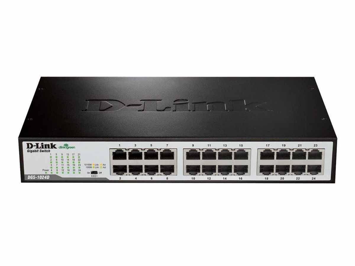 Switch 24 Portas Gigabit 10/100/1000 D-Link DGS-1024D