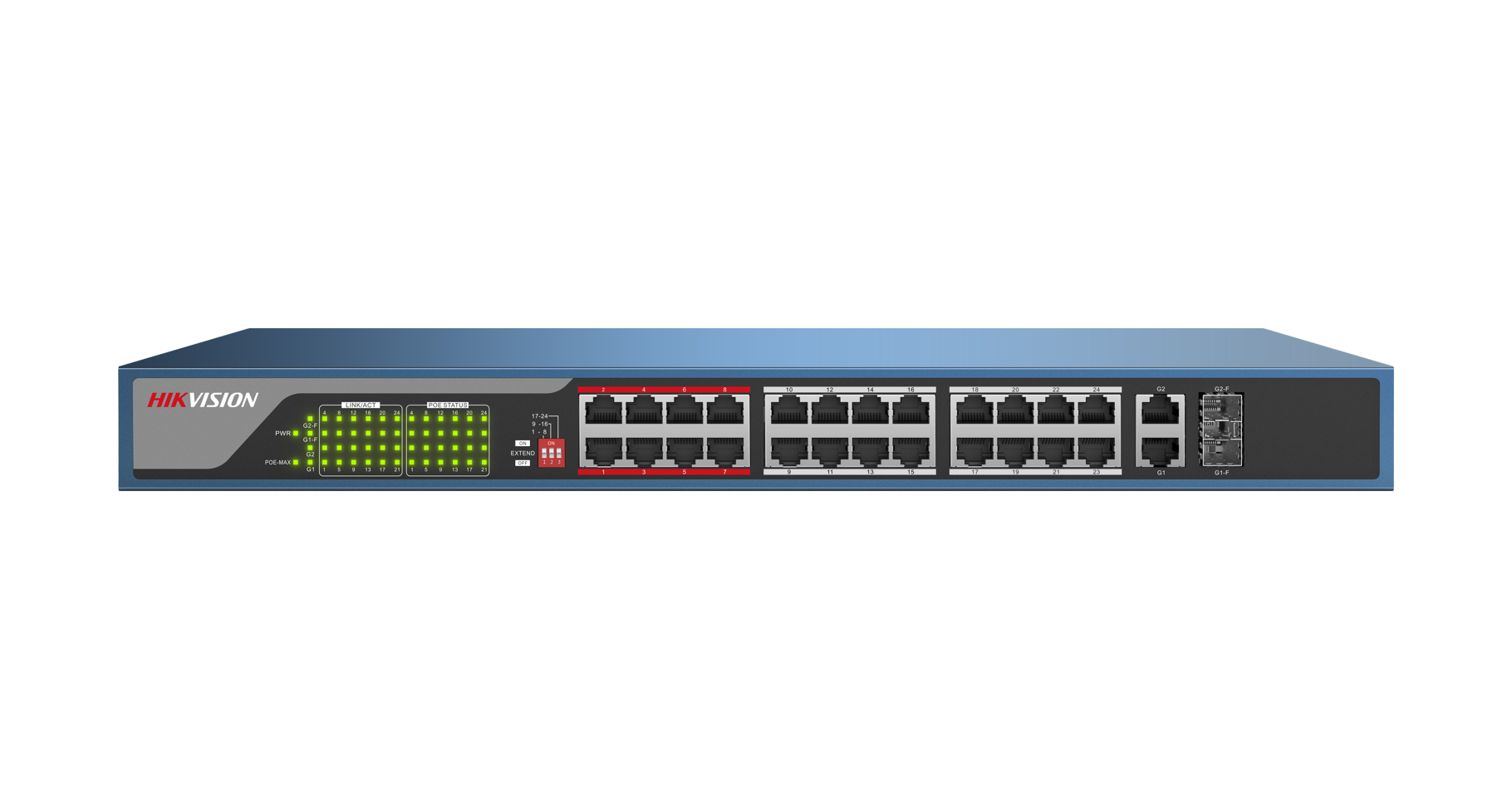Switch 24P POE 10/100MBPS 30W DS-3E0326P-E Hikvision