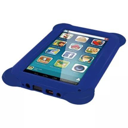 "Tablet Kid Pad 8GB Tela 7"" Case Borracha Azul Multilaser NB194"