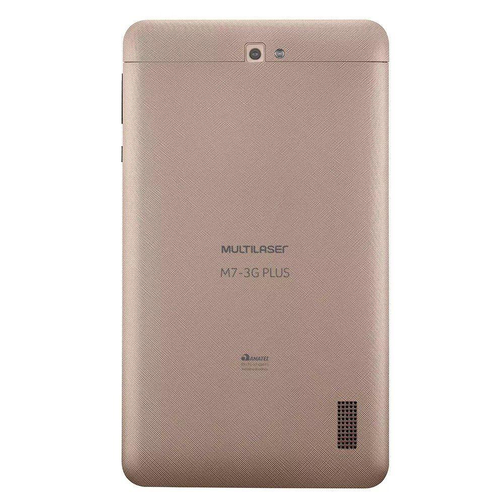 Tablet M7 3G Plus Quad Core 1GB WiFi 7'' 8GB Dourado NB272 Multilaser