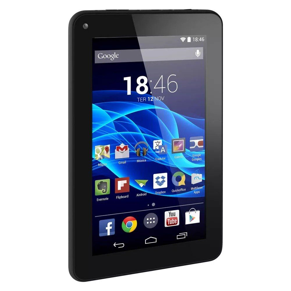 "Tablet M7s Preto Tela 7"" 8GB Multilaser NB184"