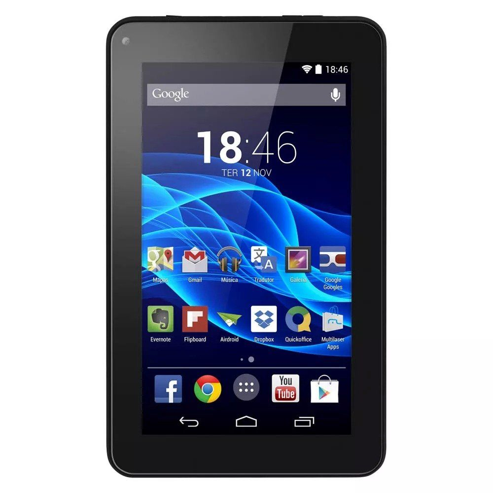 "Tablet M7s Preto Tela 7"" 8GB Multilaser NB184"