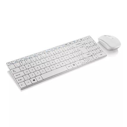 Teclado e Mouse sem Fio Slim Multimídia Branco TC203 Multilaser