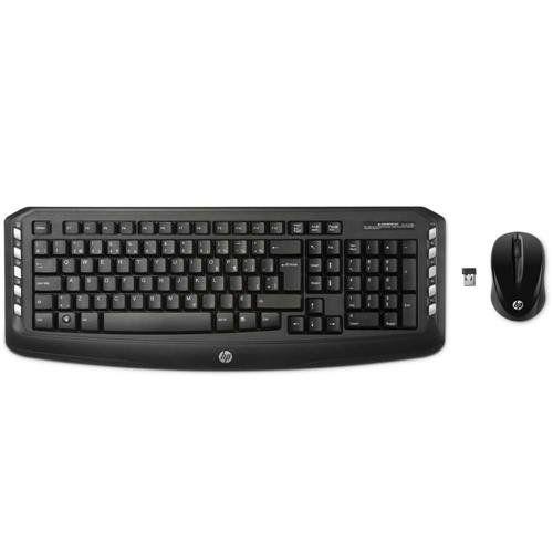 Kit Teclado e Mouse sem fio HP LV290AA + Antivirus