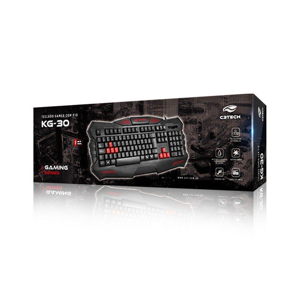 Teclado Gamer ABNT2 C3tech KG-30BK
