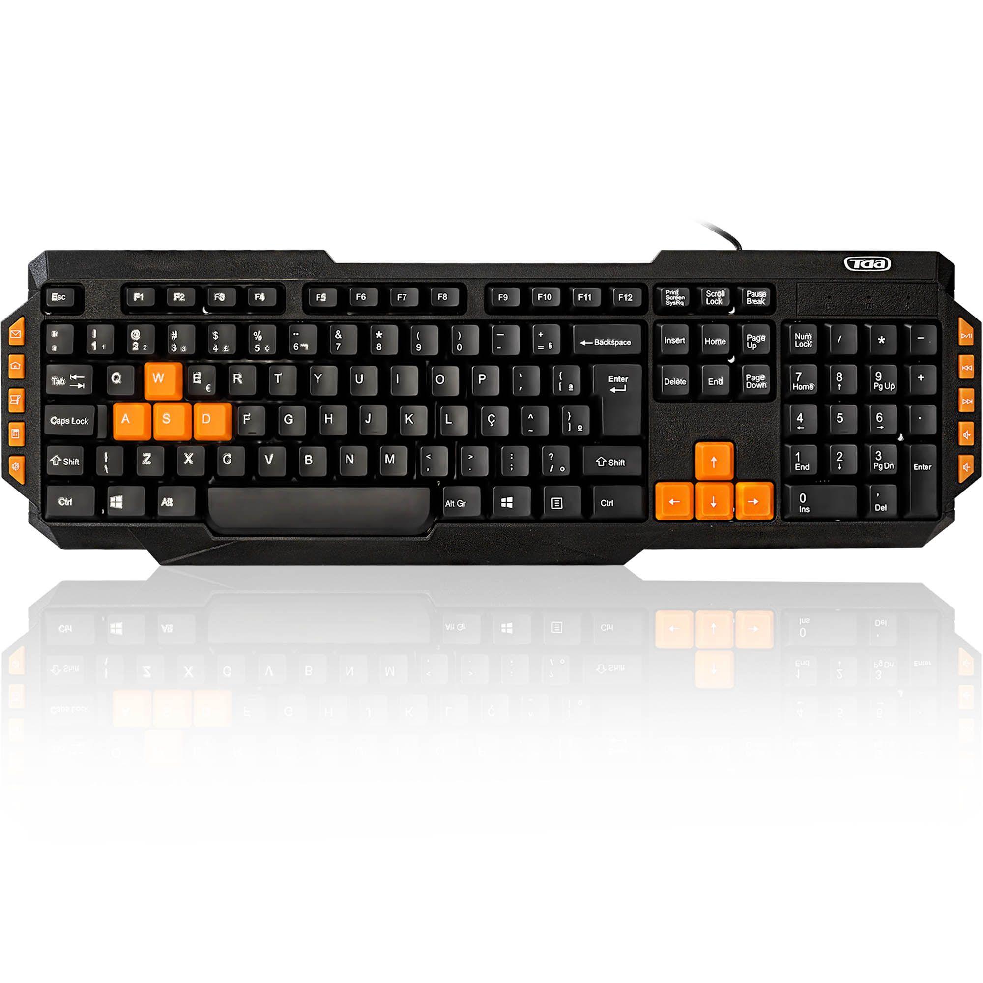 Teclado USB Gamer Series Orange Keys TDA
